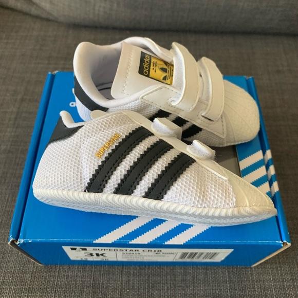 Adidas Superstar crib shoes